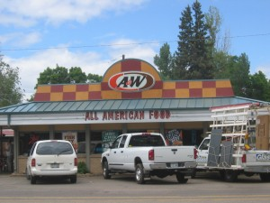 Lunch time rush at A&W located at 802 Mt. Avenue