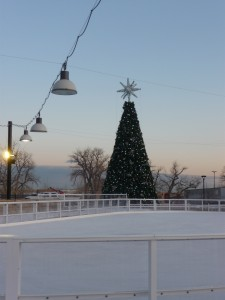 Ice Rink at The Promenade Shops at Centerra in Loveland, Colorado.  Photo by H.M. Kerr-Schlaefer