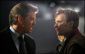 "Pierce Brosnan and Ewan McGregor in Polanski's not-so-thrilling thriller, ""The Ghost Writer."""