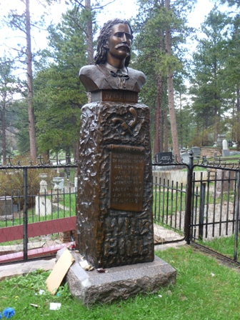 Wild Bill's tombstone in Deadwood, South Dakota