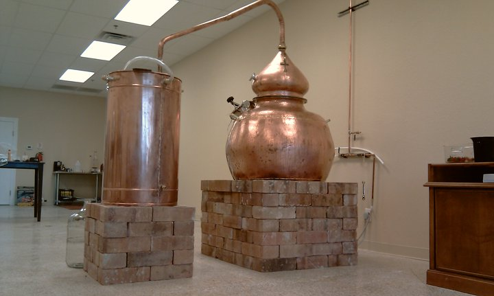 The still in Dancing Pines Distillery in Loveland, Colorado