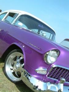 1955 Chevy purple