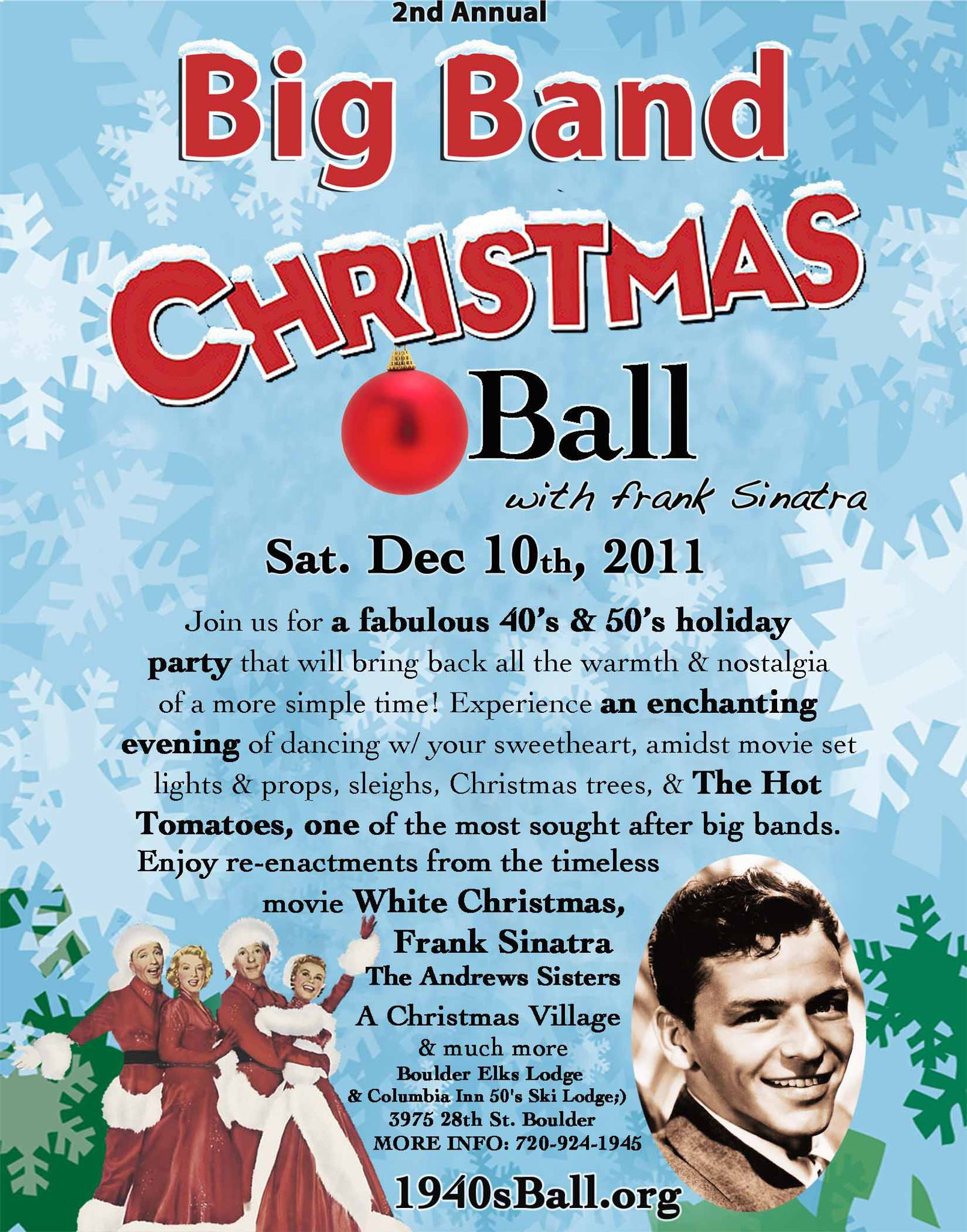 Big Band Christmas Ball poster