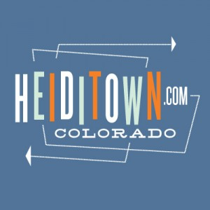HeidiTown t-shirt on blue