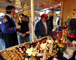 Shoppers at the Christkindl Market