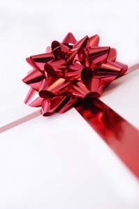christmas gift red bow