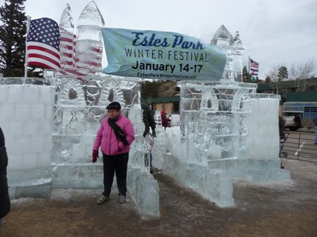 Estes Park Winter Festival ice castle