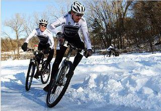 ice bike racing evergreen winter festival
