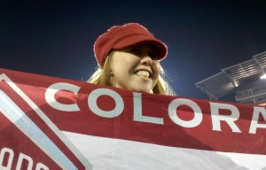The Mayor holds a Colorado Rapids Flag