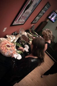 appetizer buffet at Kress Oscar Party