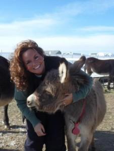 Christine & baby donkey