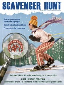 New Belgium Scavenger Hunt poster
