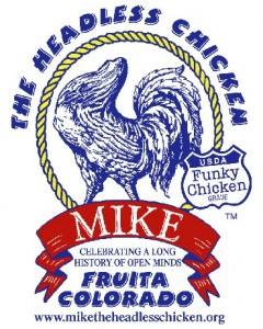 Mike the Headless Chicken Festival logo 2012