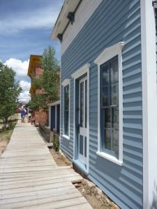blue house south party city museum Colorado