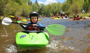 PaddleFest in Buena Vista boy in Kayak
