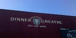 Boulders Dinner Theatre sign