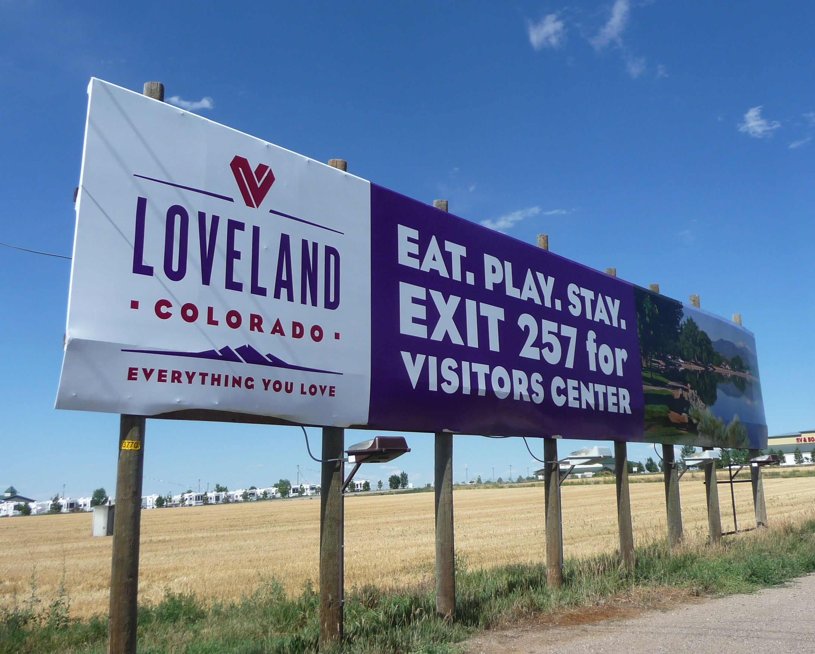 Loveland Colorado billboard on I25