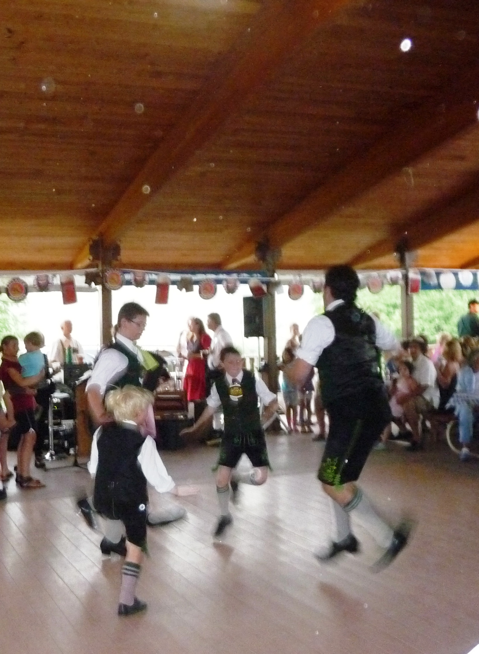 boys dancing at Biergarten Festival
