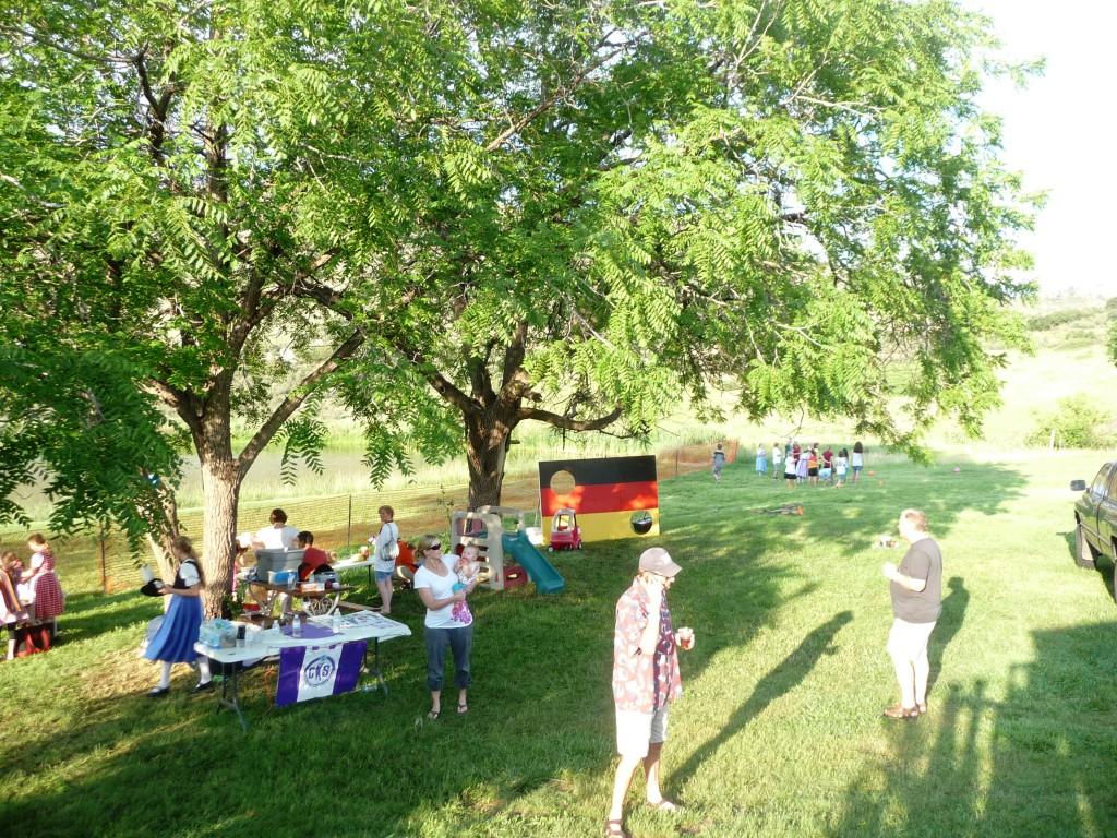 childrens area at biergarten festival colorado