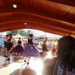 girl dancing at biergarten festival 2011