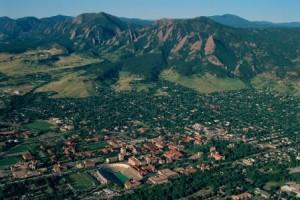 Aerial View Boulder Colorado