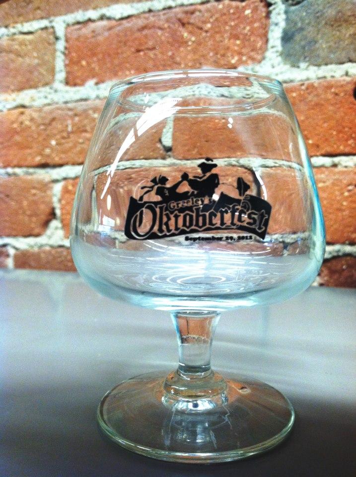 Greeley Oktoberfest commemorative tasting glass 2012