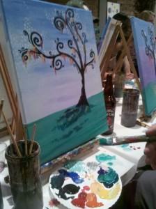 Ryan's painting in progress