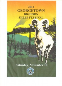 Georgetown Bighorn Sheep Festival 2012 poster