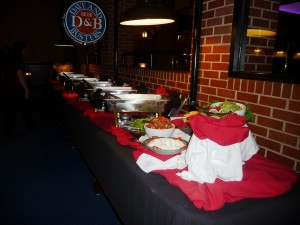 Dave and Busters has special offers for parties and celebrations. The packages include food, drinks and game-play time. Dave and Busters hosts both adult and youth birthday parties. Dave and Busters also offers packages for company social events, post-prom events for teens, class trips and sport teams.