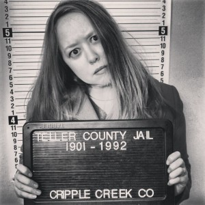 Heidi at the Cripple Creek jail museum photo by HeidiTown