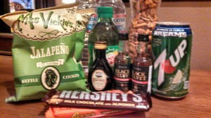 mini-bar gift basket at The Rush Casino in Cripple Creek photo by HeidiTown