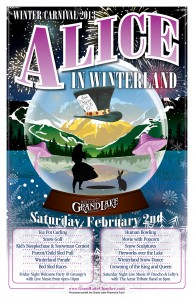 Grand Lake Winter Festival poster alice in Winterland