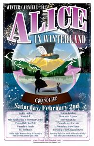 Grand Lake Winter Festival poster alice in Winterland
