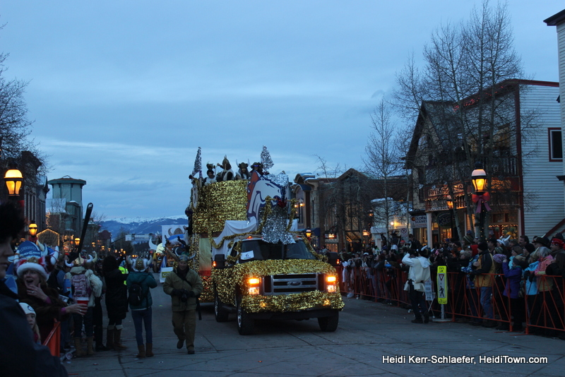 Grand Lodge float the 1000 dollar winner at Ullr parade 2013 Heiditown