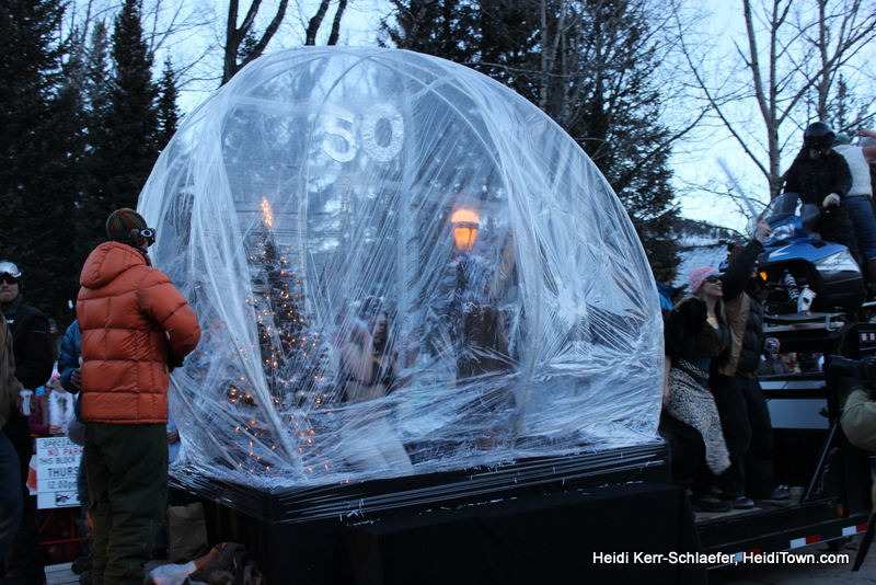 Snow Globe at Ullr Parade 2013 HeidiTown