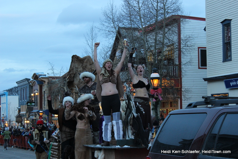 Viking gals at Ullr parade 2013 HeidiTown