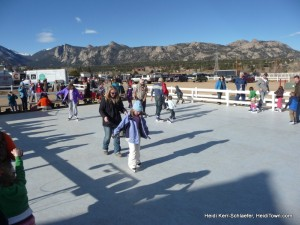 ice rink at Estes Park Winter Festival