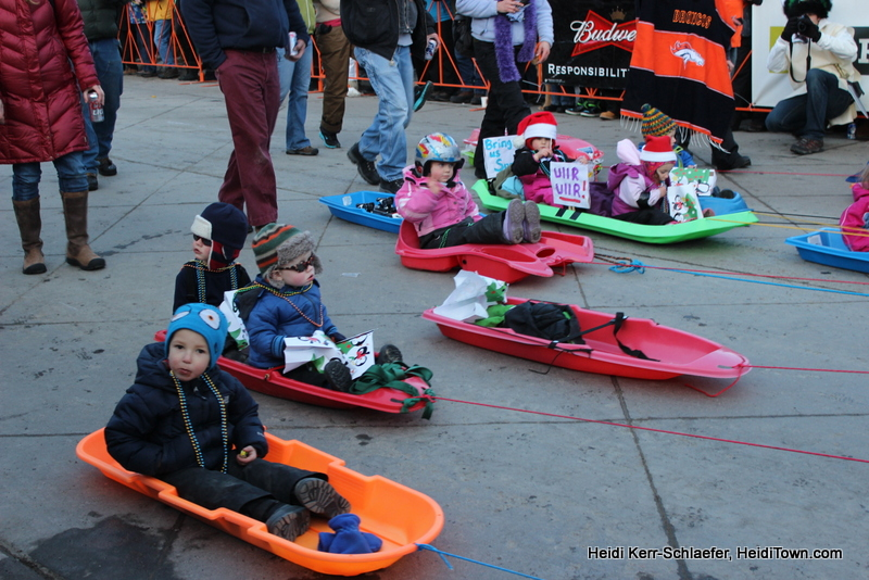 kids in sleds at Ullr Parade HeidiTown 2013