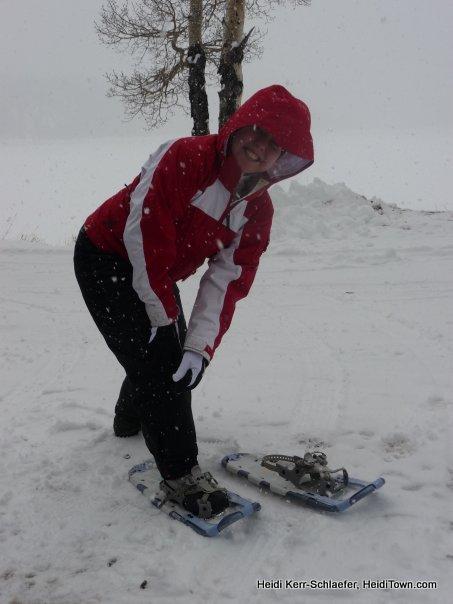 snowshoing HeidiTown