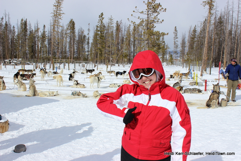 Winter Park Dog Sled thumbs up HeidiTown