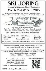 Leadville Skijoring poster 2013