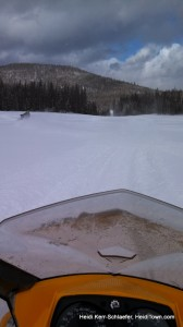 looking over my sled snomobiling HeidiTown