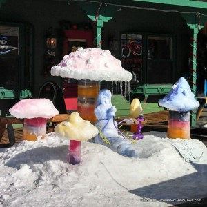 snow sculpture in Grand Lake HeidiTown.com