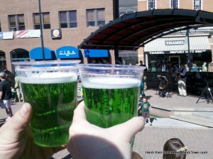 Green beer in Old Town St. Patrick's in Fort Collins HeidiTown