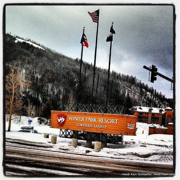 Winter Park Resort Sign Feb 2013 HeidiTown.com