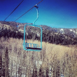 The cutest retro chairlift at Powderhorn Resort Colorado HeidiTown.com