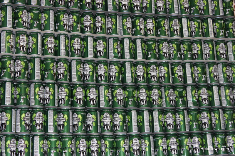 a wall of beer at Ska Brewing in Durango. HeidiTown.com