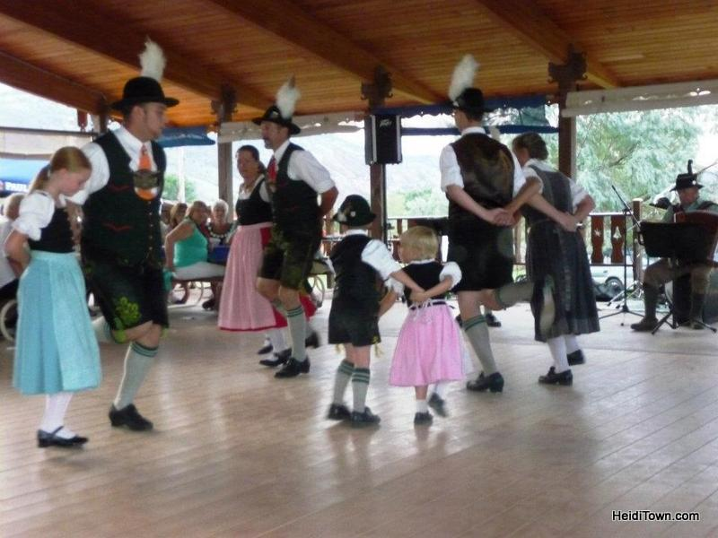 TEV Edelweiss dancers at Biergarten Festival. HeidiTown.com