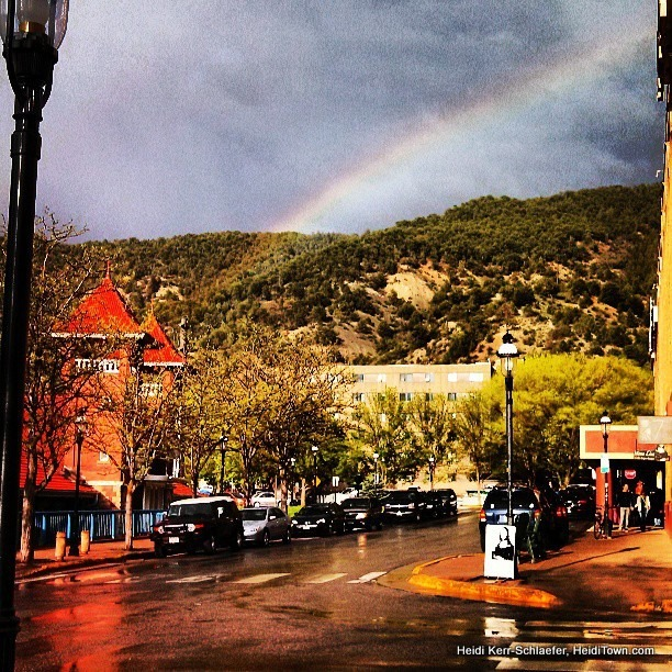 rainbow in downtown Glenwood Springs HeidiTown