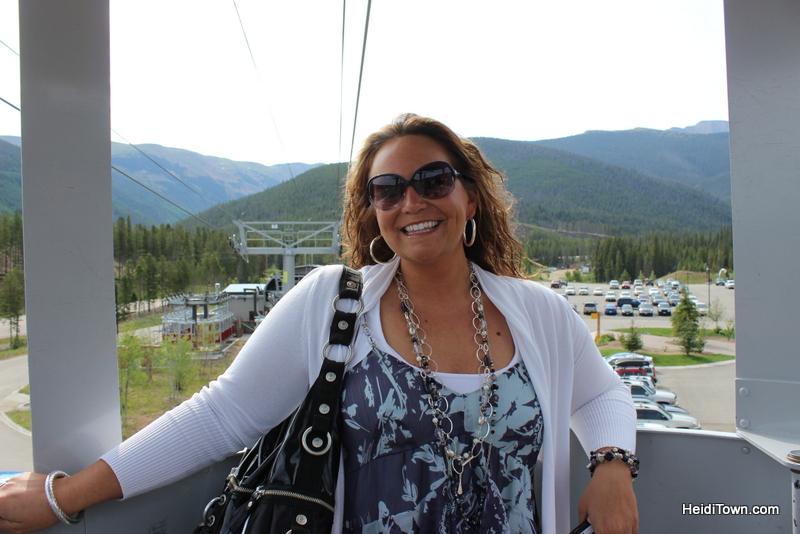 Christine riding the gondola into Winter Park Village. HeidiTown (1)